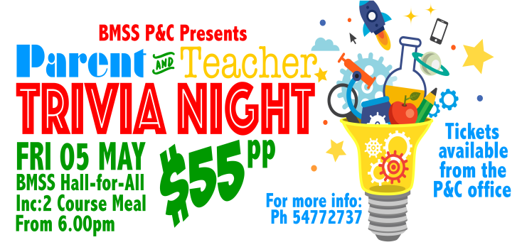 Parent & Teacher Trivia Night - Friday 5th May